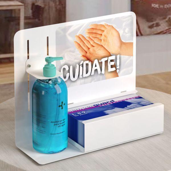 soporte-dispensador-gel-guantes-sobremesa-mostrador